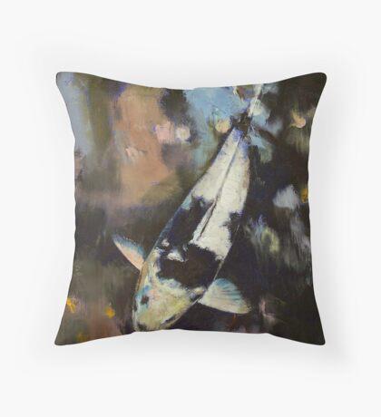 Utsuri Koi Reflections Throw Pillow