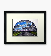 The Distance Between You and I... (panel #3) Framed Print