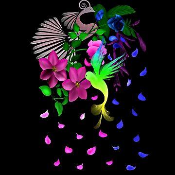 Flowers and Birds by NicoleK-design