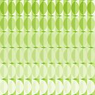 Leaves at springtime - a pattern in green by VrijFormaat