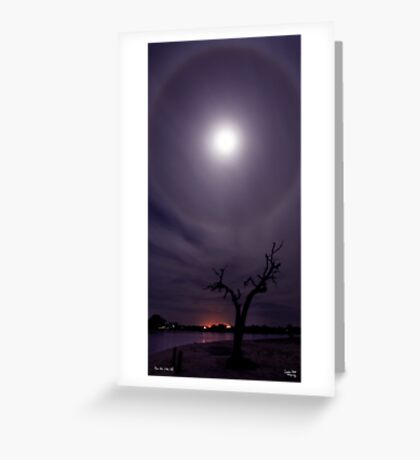 Moon Halo #2 Greeting Card