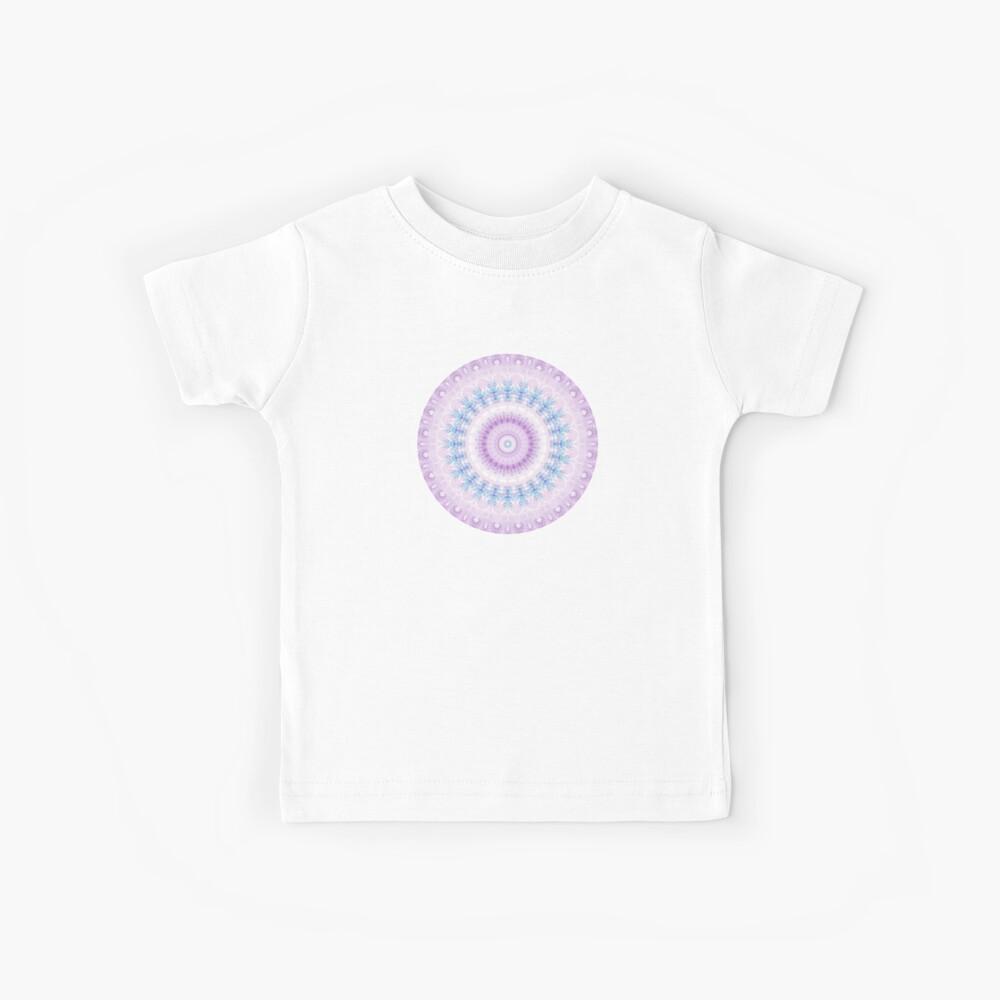 Pastel Purple and Blue Mandala Kids T-Shirt