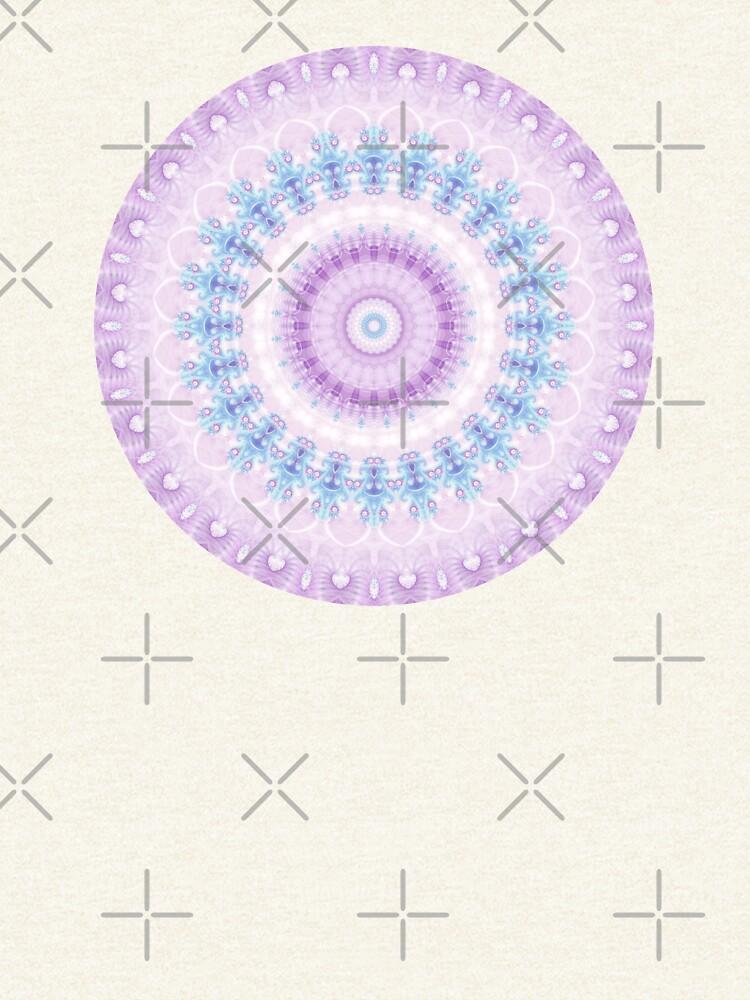 Pastel Purple and Blue Mandala by kellydietrich
