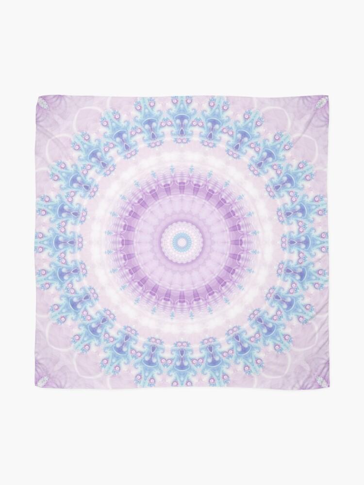 Alternate view of Pastel Purple and Blue Mandala Scarf