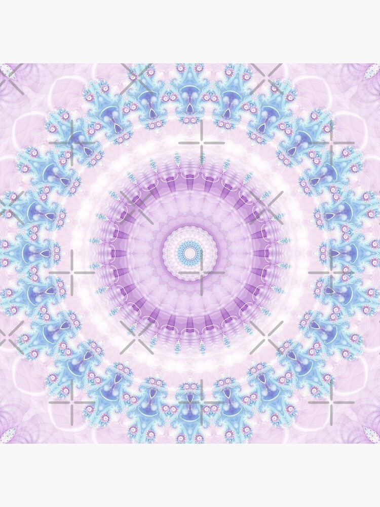 Pastel Purple and Blue Mandala by kellydietrich