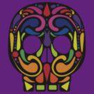 painted skull by sabrina card