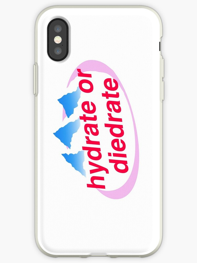 the best attitude a1c80 63b73 'Hydrate or Diedrate Evian Logo' iPhone Case by whosbrittany