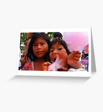 Indigenous Cotton Candy Greeting Card