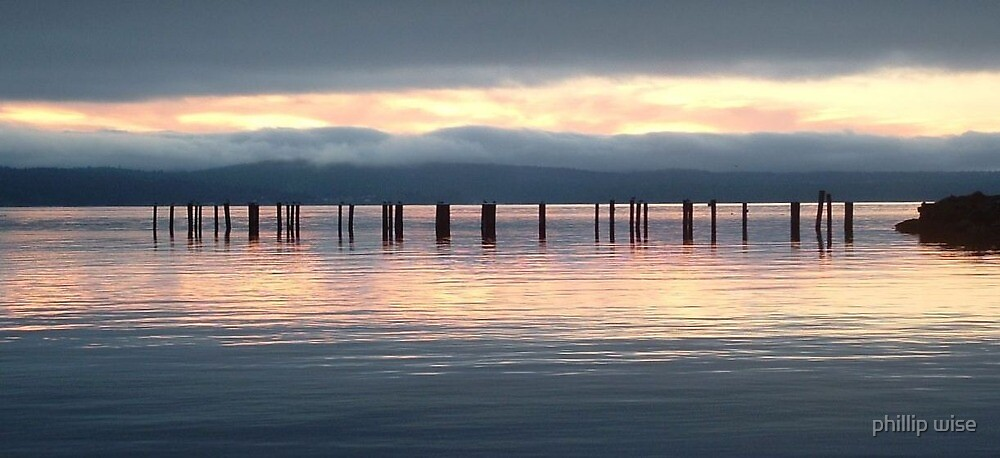powell river sunset by phillip wise