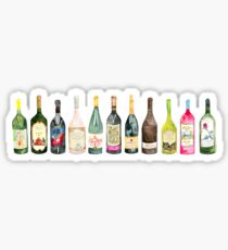 Vino Wine Bottles  Sticker