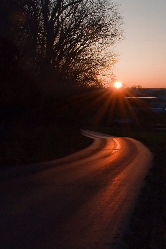 Road at Sunrise by Jean-Pierre Ducondi