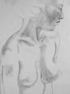 female nude.... pencil study #1 by Juilee  Pryor