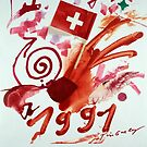 1 aout 1991 700 years switzerland 36405 1er aout vintage poster by vintagetravel