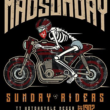 Isle Of Man TT Racing  Mad Sunday Vintage Biker by thespottydogg