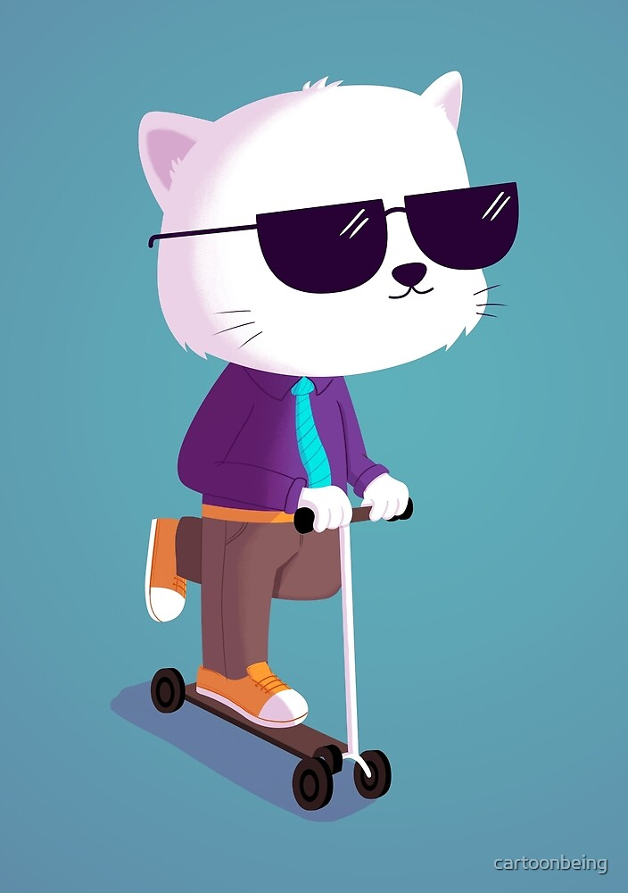 Scooter Cat by cartoonbeing