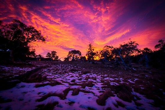 Sunrise at Thredbo by anthonyclarkau