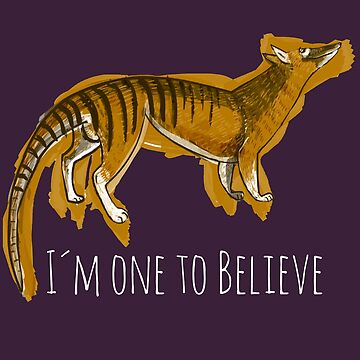 I´m one to believe #Thylacine White by belettelepink