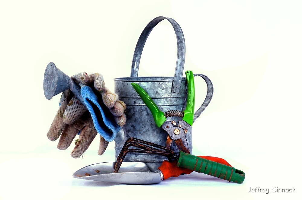 Garden tools high key by Jeffrey  Sinnock