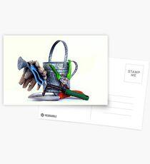 Garden tools high key Postcards