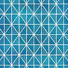 Blue Triangle Dots Pattern by blueskywhimsy