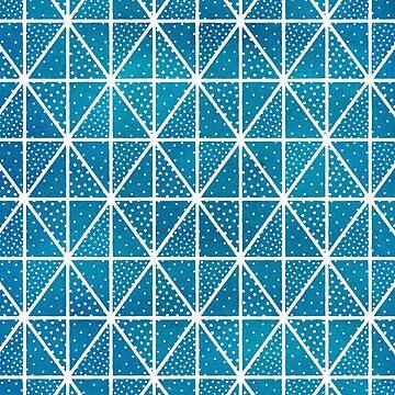 Patrón de puntos triángulo azul de blueskywhimsy