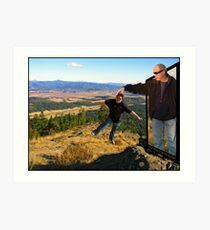 How to Sightsee in Eugene!           Art Print
