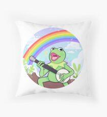 Wholesome Kermit Throw Pillow