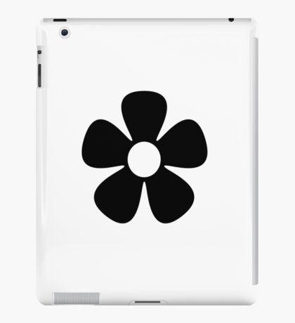 Black Flower iPad Case/Skin