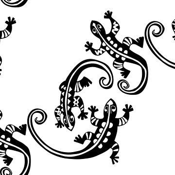 Maori Lizards by PiDu by cartoonblog