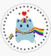 Steve loves LGBT Sticker