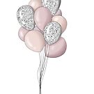 Balloons, pink by Bee and Glow Illustrations Shop