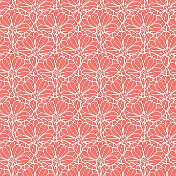 Coral color flowers by Eng-Sun