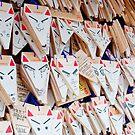 Kitsune Ema's at Fushimi Inari-taisha by F.M. Gore-Kelly