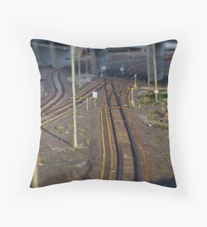 My train set. Throw Pillow