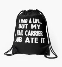 Funny Gifts For Mail Carriers  Drawstring Bag