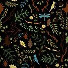 Forest pattern by Elsbet