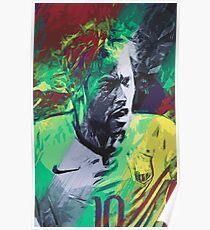 Neymar Illustration Poster