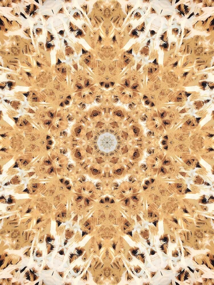 Leopard trägt Muster-Fraktal-Mandala zur Schau von tronictees