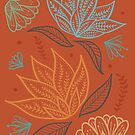 Bohemian Florals - Orange by latheandquill