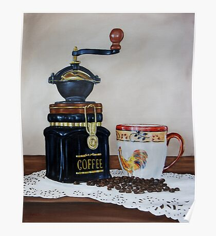 """Coffee Time"" - Oil painting Poster"
