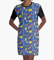 A Girl Worth Fighting For Graphic T-Shirt Dress