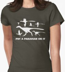 Put A Paravian On It (White) Women's Fitted T-Shirt