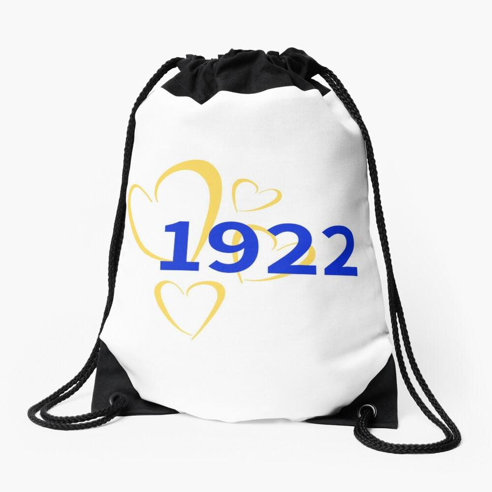 1922 Hearts Drawstring Bag Front