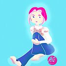 Mood Blue. Hair Pink. by Melissa Gaggiano