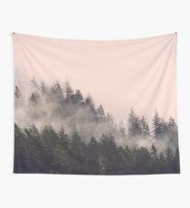 Peach Forest - Pink Fog in the Woods Tapestry