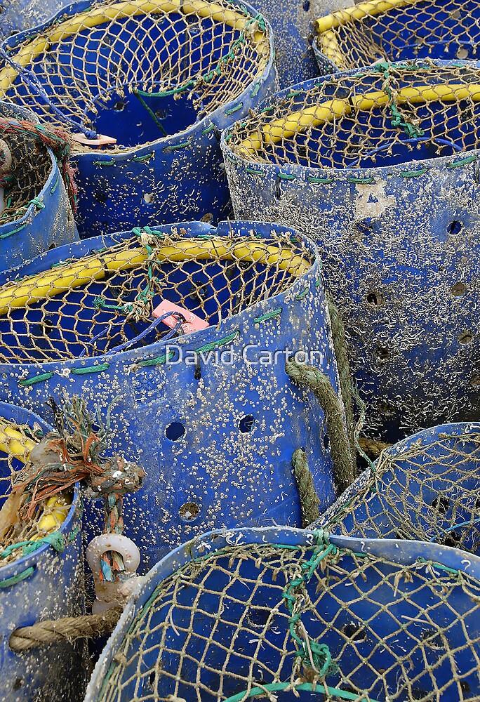 Fishing pots, West Bay, Dorset, UK by David Carton