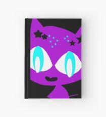 Purple kitten vetor art Hardcover Journal