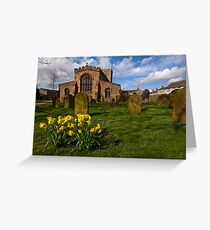 St Oswalds church at Easter Greeting Card