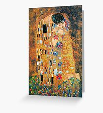 Gustav Klimt - The kiss  Greeting Card