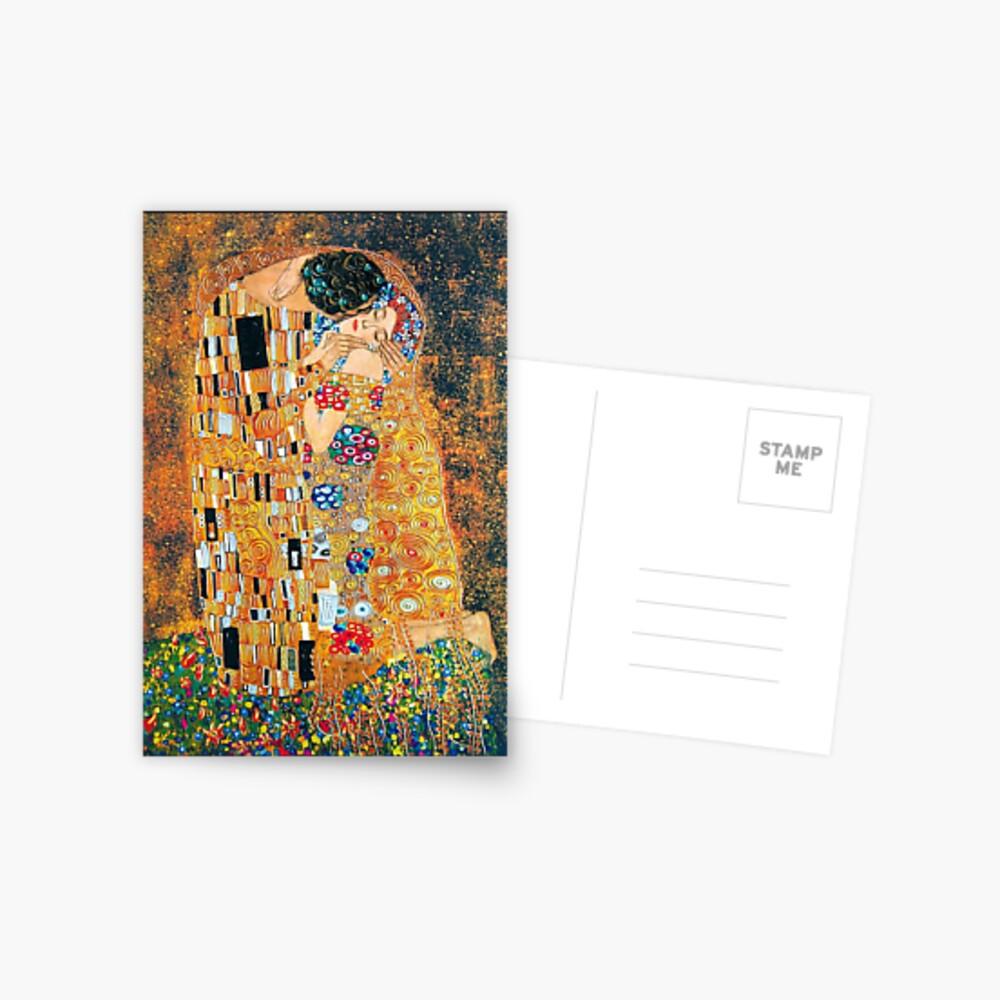 Gustav Klimt - Der Kuss Postkarte